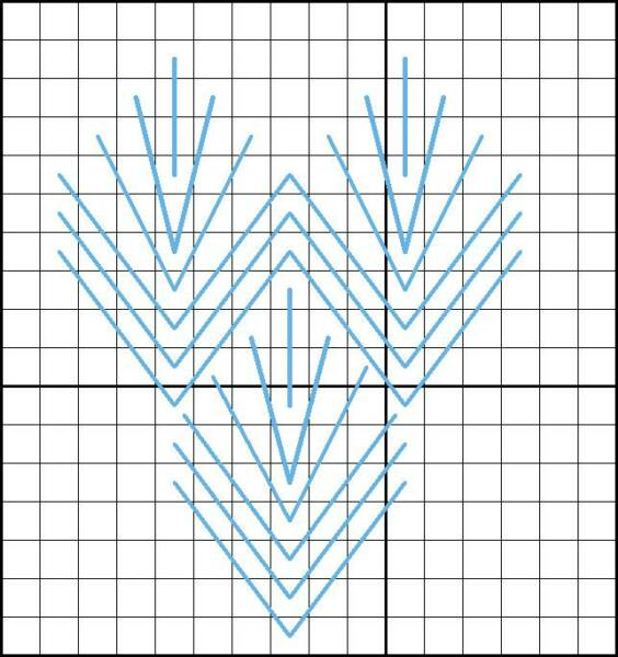 Leaf Stitch - Diagram 2
