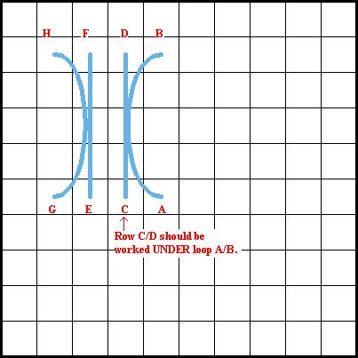 Sheaf Stitch - Diagram 1