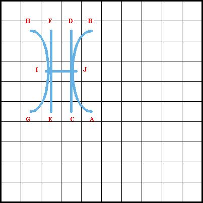 Sheaf Stitch - Diagram 2
